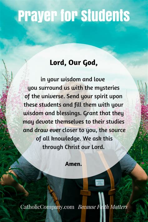 catholic prayer for new year prayers for your children as they begin a new school year