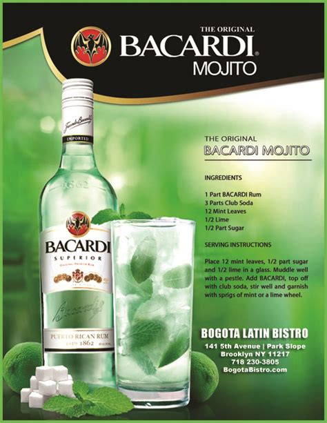 bacardi mojito recipe bogotabistro s just another com weblog