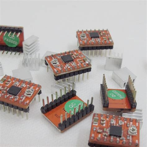 Original Chip A4988 Stepper Driver Heatsink 3d Printer Cnc Shield 3d printer a4988 stepper motor driver reprap with heatsink edition 3dpmav