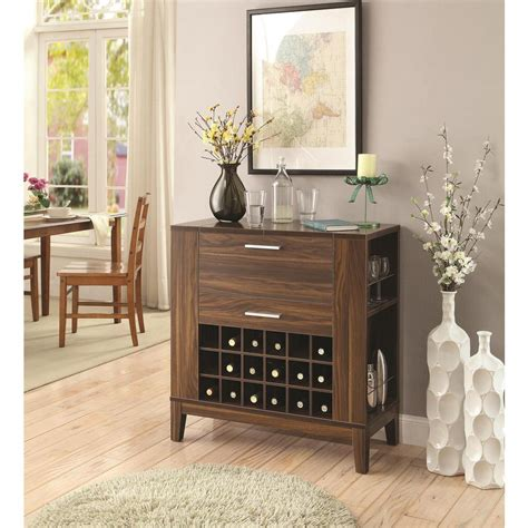 Cabinet Rec by Coaster Rec Room Walnut Bar Cabinets 100130 The
