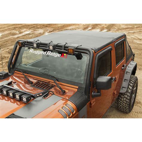 jeep wrangler top view rugged ridge 13750 38 bowless soft top black 07