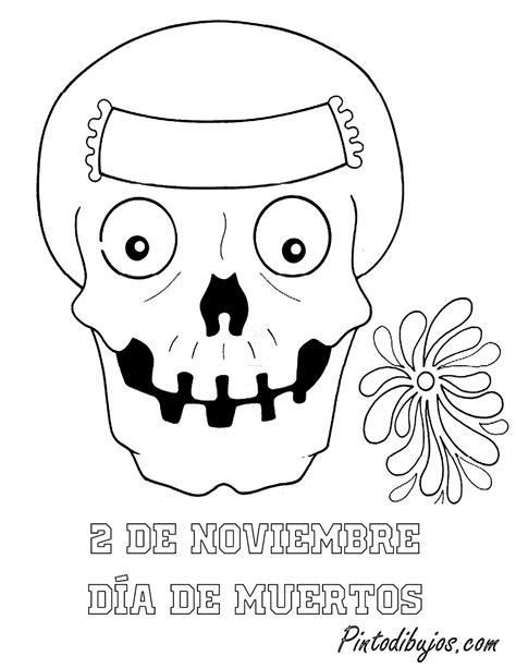 pinto dibujos dibujo para colorear de calaveras de da de pinto dibujos 2 de noviembre para colorear calavera de