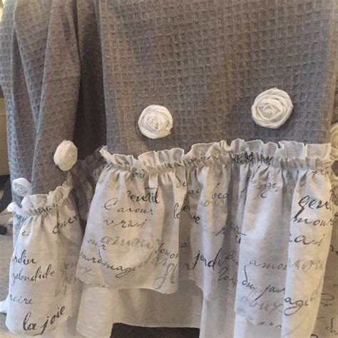 grey shabby chic curtains 1000 ideas about ruffled shower curtains on pinterest