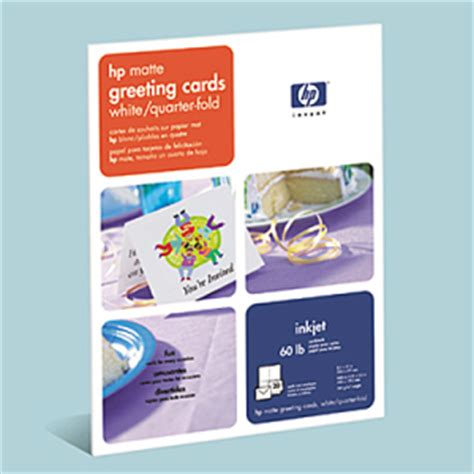 hp printable greeting cards free hp linen ink jet greeting card paper hewq1788a shoplet com