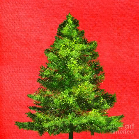 christmas tree painting painting by setsiri silapasuwanchai