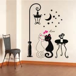 aliexpress home decor aliexpress com buy 2016 cut black couple cat wall sticker home decor adesivo de parede home