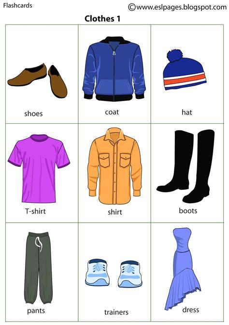 clothes pattern esl esl pages clothes