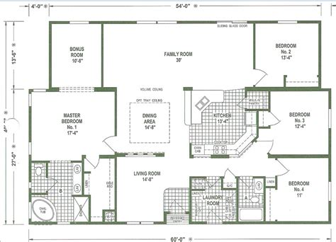 Triple Wide Mobile Home Plans | mobile home floor plans triple wide mobile homes ideas