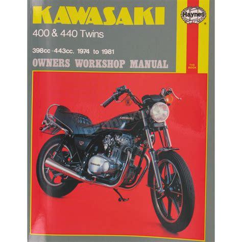 Haynes Kawasaki Motorcycle Repair Manual 281 Cruiser