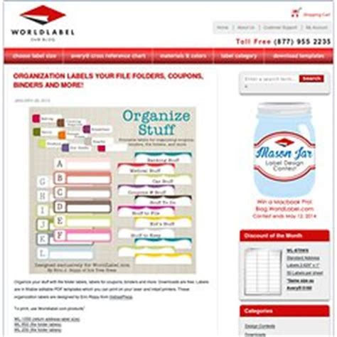 organization labels your file folders coupons binders printables fonts pearltrees
