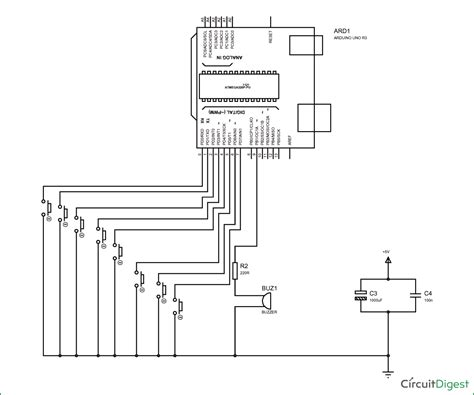 arduino tone generator circuit diagram and code
