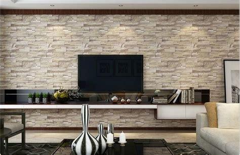 Wallpaper Dinding Vinyl Batu Bata Abu Abu Ro Dv1170 kualitas tinggi pedesaan tekstur beli murah pedesaan