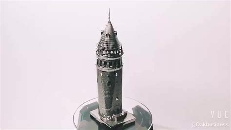 3d Metal Puzzle Galata Tower Istanbul wholesale diy intelligent galata tower metal 3d puzzle robot model for adults and buy
