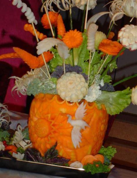 floral pumpkin centerpieces  creative table decoration