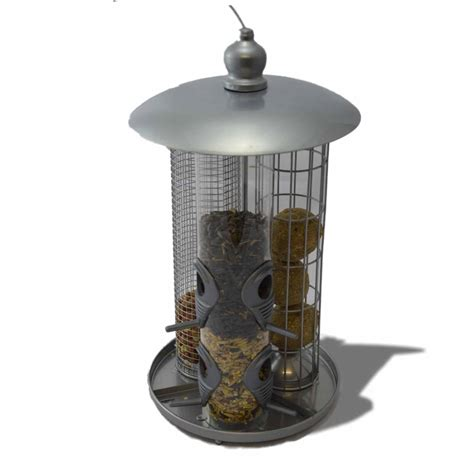 deluxe hanging 3 in 1 suet fat ball seed nut wild bird