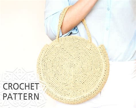 crochet bag pattern uk free crochet bag pattern raffia bag round bag crochet bag