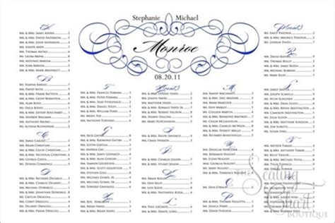 wedding ceremony seating chart template modern seating charts weddings style and decor