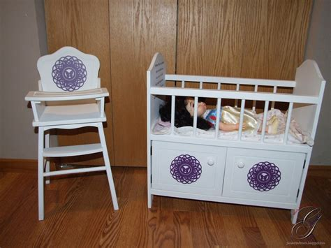 s craft room doll high chair and crib
