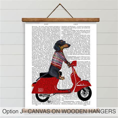 dachshund print dachshund queen by fabfunky home decor dachshund print dachshund on moped by fabfunky home decor