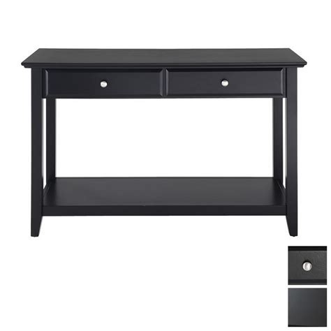 sofa table black shop crosley furniture black rectangular console and sofa