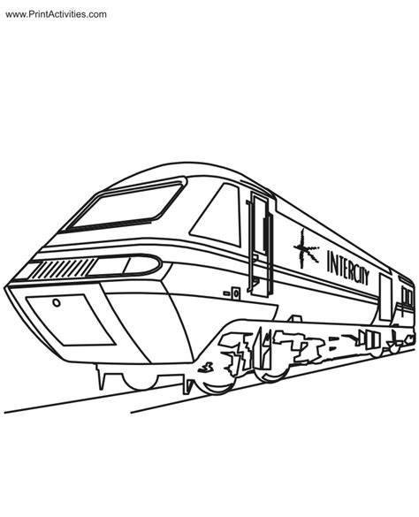 train coloring pages coloring home