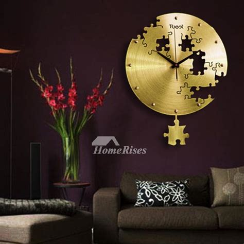 quartz wall clock    metal silverblackgold