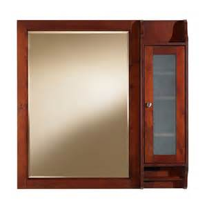 Lowes Medicine Cabinets Shop Allen Roth Largo 36 In X 36 In Cherry Birch Surface