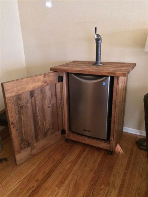 build a bar from stock cabinets diy kegerator cabinet cabinets matttroy