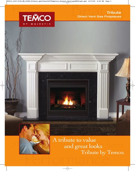 Temco Gas Fireplace Manual by Majestic Appliances Builder Direct Vent 36cdvxrrn User Manual 2 Pages