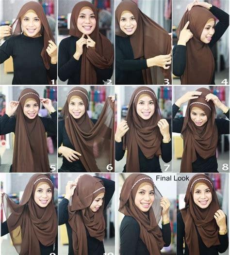 tutorial gambar jilbab tutorial cara memakai jilbab pashmina modis dan menawan