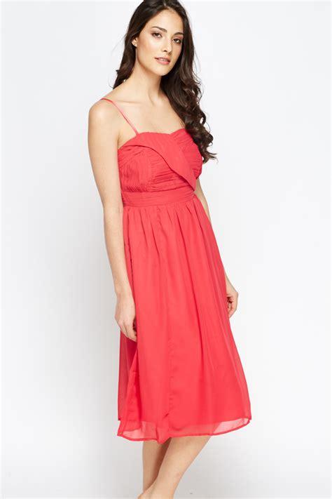 Fashions A30784 Midi Dress Pink pink pleated midi dress just 163 5