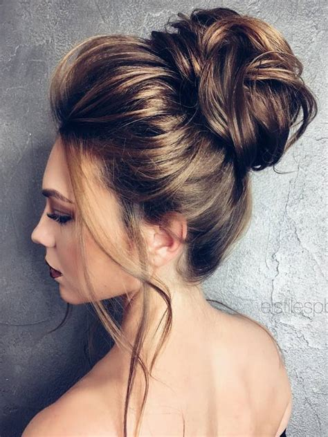 young bridesmaid buns 75 chic wedding hair updos for elegant brides chongos