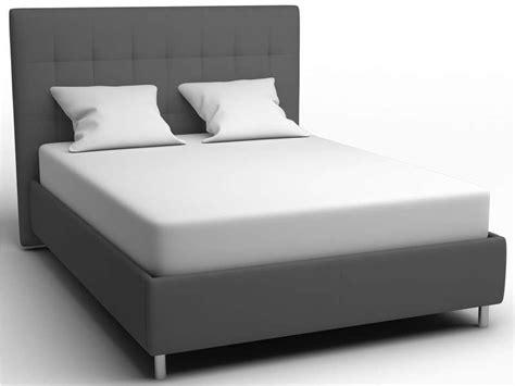 lit 140 x 190 cm coloris gris vente de lit adulte