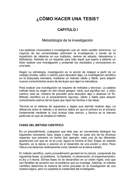 libro como hacer una tesis descargar gratis pdf