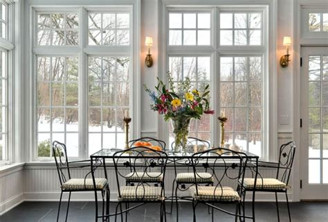 Sun Porch Windows Designs Sunroom Windows With Dining Room
