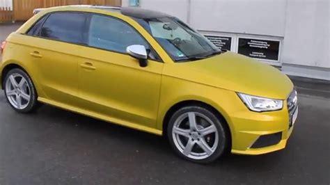 Audi A1 Gelb by Audi S1 Folierung Schwarz Uni Auf Gelb Matt Metallic