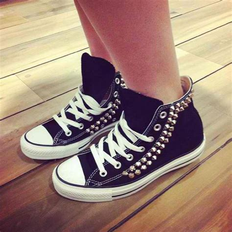 diy studs on shoes studded converse diy inspiration diy