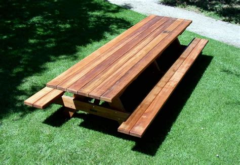 redwood picnic table bench plans  wood plans