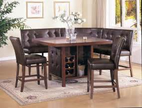 Dining Table Booth Style Chairs Sale 907 00 Brown Counter Height Table With