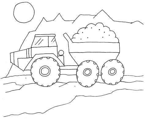 printable coloring pages dump truck free printable dump truck coloring pages for kids