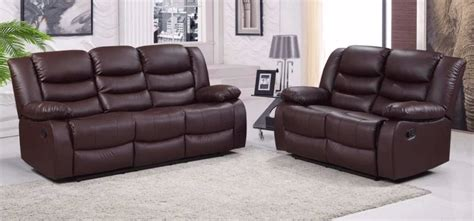 Leather Reclining Sofas Uk Brown Leather Recliner Sofa Uk Brokeasshome