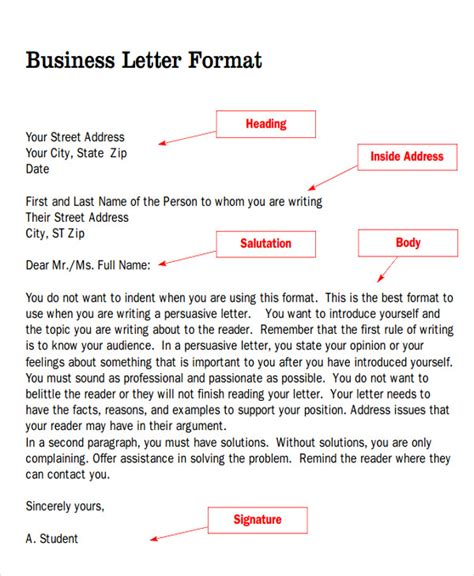 Business Letter Format Salutation Sle Business Letter Salutation 5 Exles In Word Pdf