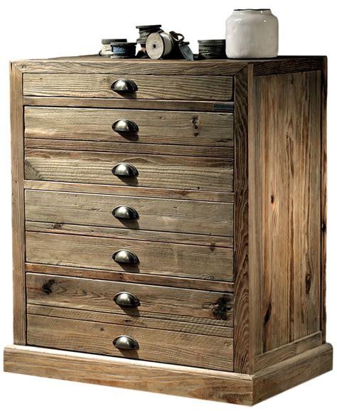 cassettiera 4 cassetti cassettiera in legno di pino con 4 cassetti