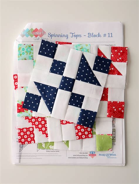 Patchwork Block Patterns - a bright corner patchwork quilt along block eleven