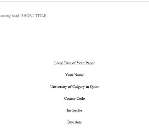 formatting apa style title page purdue owl apa formatting and style guide apa format title