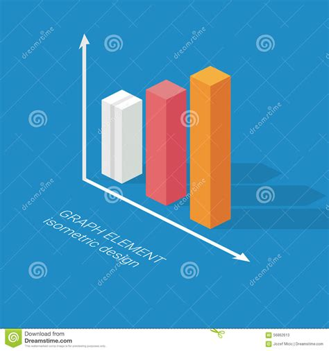 design visualization dreamzone infographics graph element isometric design chart stock
