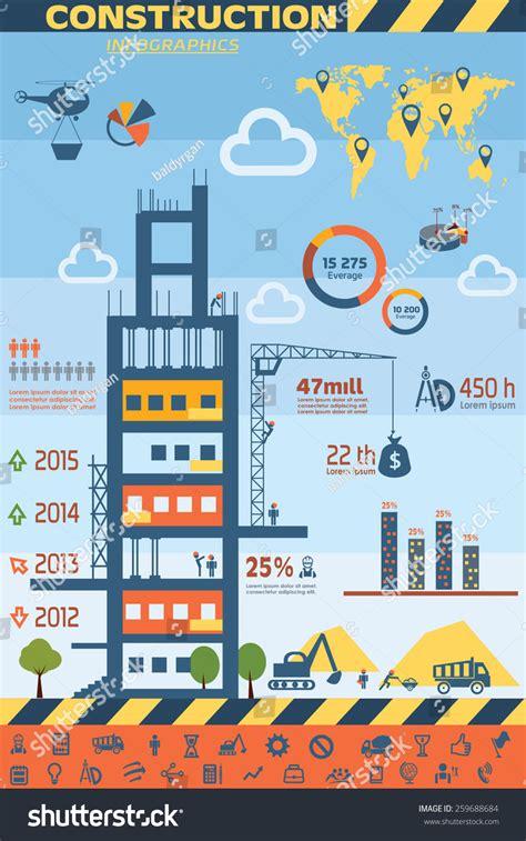 elements design renovations inc building construction infographics vector icons set stock