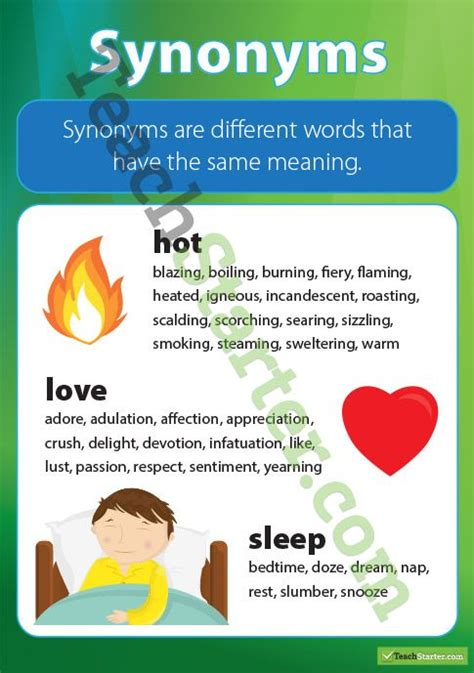 design definition synonyms a poster showing the definition and exles of synonyms