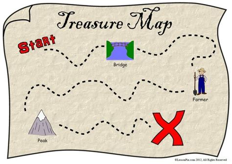 scavenger hunt map template 6 best images of printable treasure hunt map printable