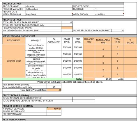 project status report template excel weekly status report template professional business